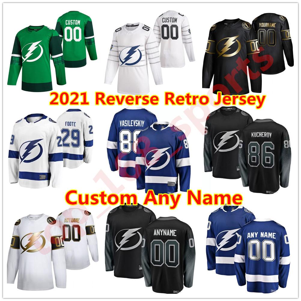 2021 Reverse Retro Tampa Bay Lightning Hockey Jersey Barclay Goodrow Anthony Greco Jan Rutta Mitchell Stephens Zach Bogosian Custom Stitched