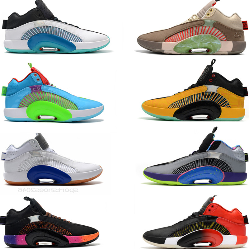 Mens 35s Jumpman Basketball shoes 35 trainers tennis sneakers Black White red grey Pink sports