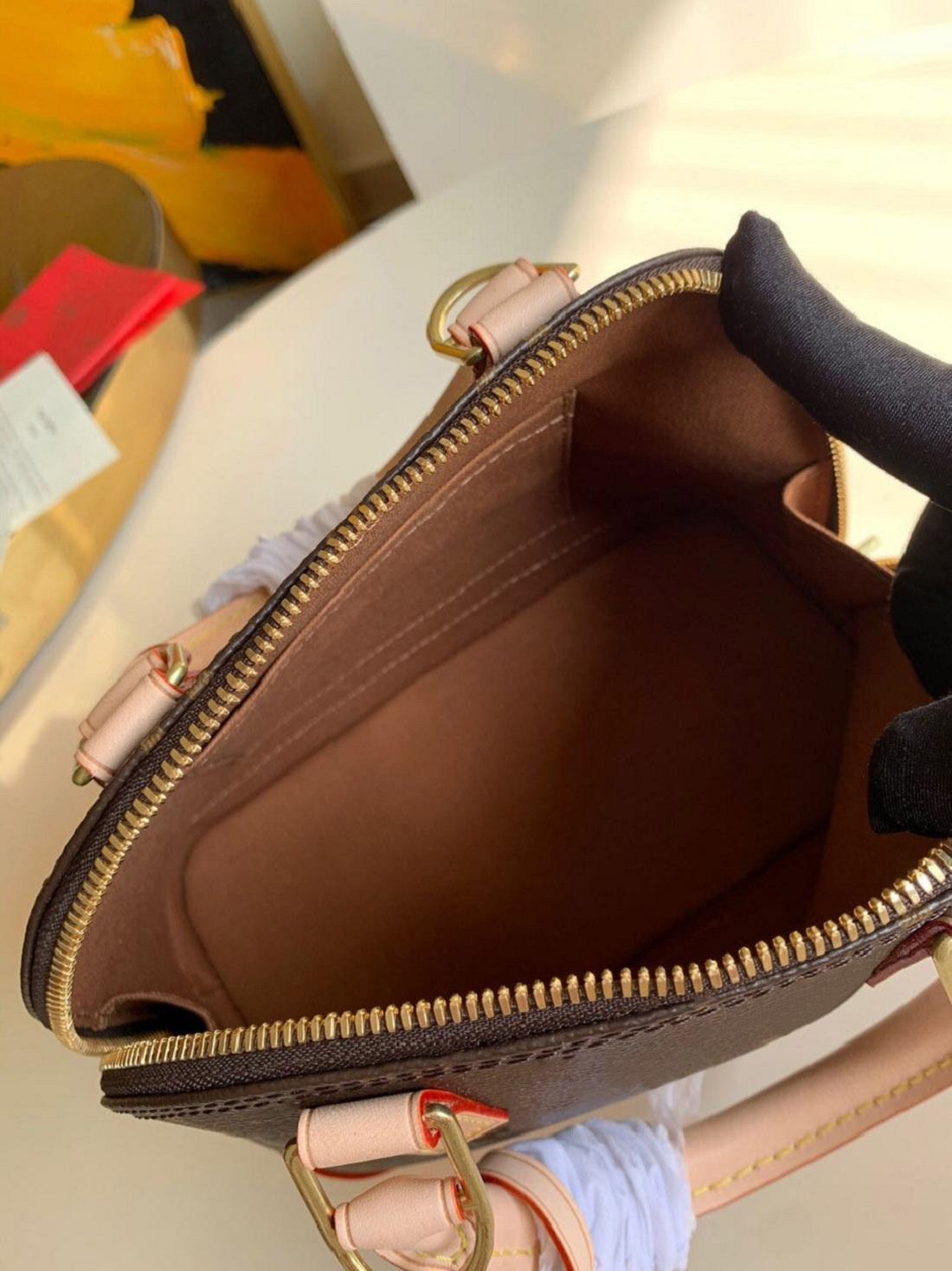 hot sale higt Quality Alma BB Tote Fashion Women Shoulder Bags Chain Messenger Bag Leather Handbags Shell Purse Ladies Cosmetic Crossbodys