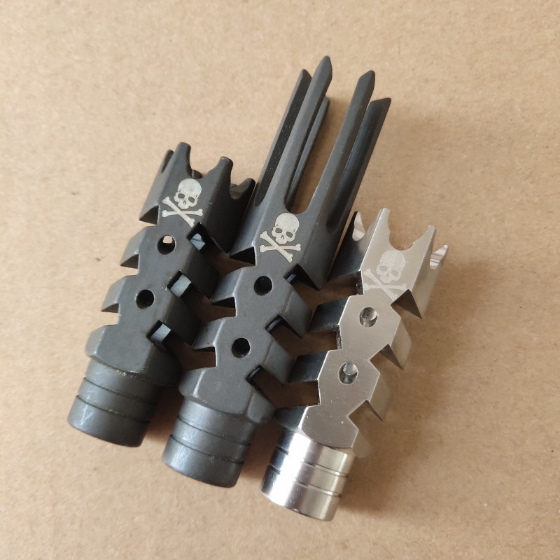 Steel and Stainless steel .223 .308 muzzle brake with crush washer