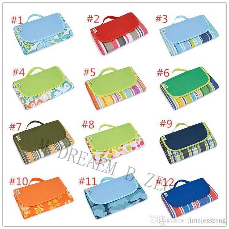 24 Designs folding picnic blanket 145*200cm moistureproof picnic pad portable junket rug carpets tent mat camping dinner cloth beach mat