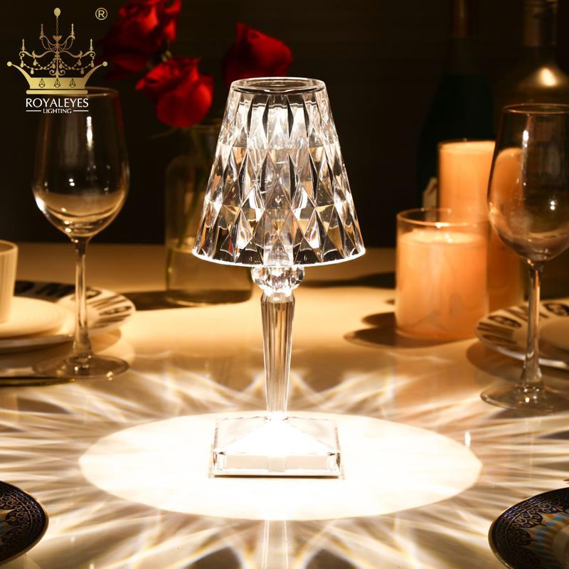 Table Lamps Italian Kartell Battery Desk Lamp Usb Touch Sensor Bar Light Decor Restaurant Romantic Bedside Led Night Lights
