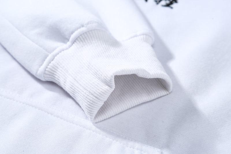 Embroidery Japanese Cranes Pullover Fleece Hoodies 9