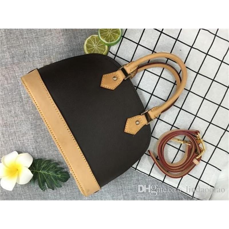 Alma BB Handbag Alma Bag Oxidize Leather Purse HIgh Quality Handbags 100% Real Leather Handbag Designer Brand Purse Alma Handbag BB bag 25cm