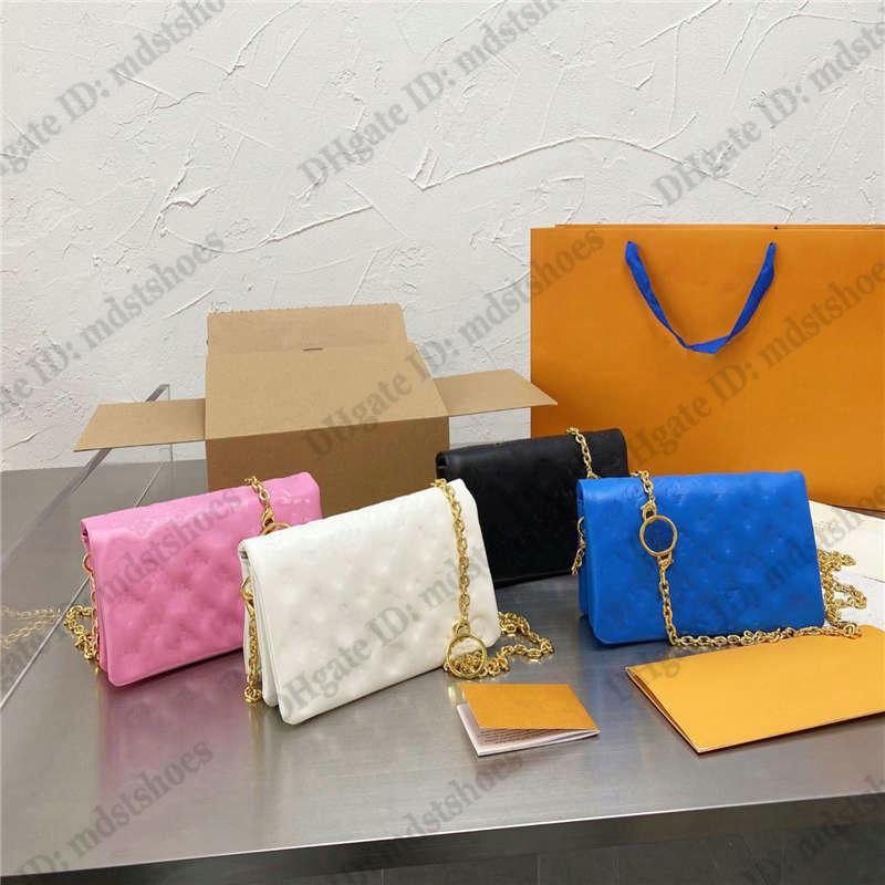Pochette Coussin Chain Bag Soft Lambskin Embossed Handbag Designer Women Luxurys Shoulder Purse Clutch Bags Crossbody M80742 M80745