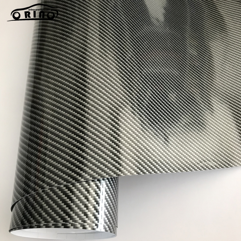 Silver 2D Carbon Fiber Vinyl Wrap Sticker-3