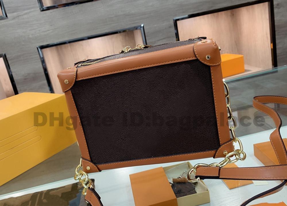 Box Bags 2021 designers handbags shoulder luxurys Bags Women Bag Chains High Quality Bag Fashion Leather crossbody bags