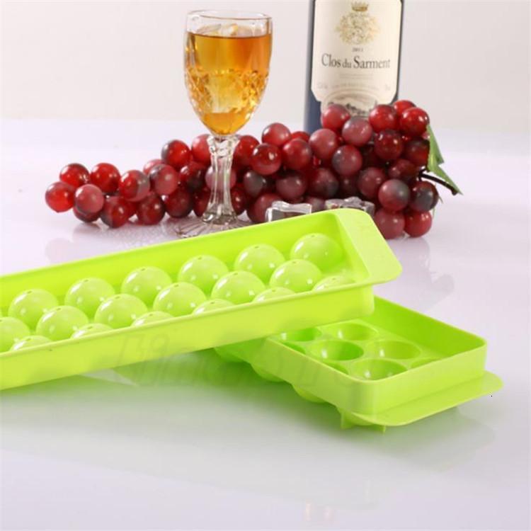 20 lattice round ice making box Home Plastic ice mold creative ice lattice Kitchen supplies T9I00310