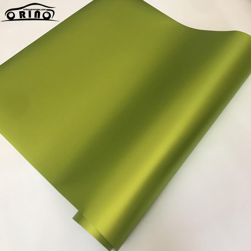 Lemon Green Metallic Matt Vinyl Film Wrap-5