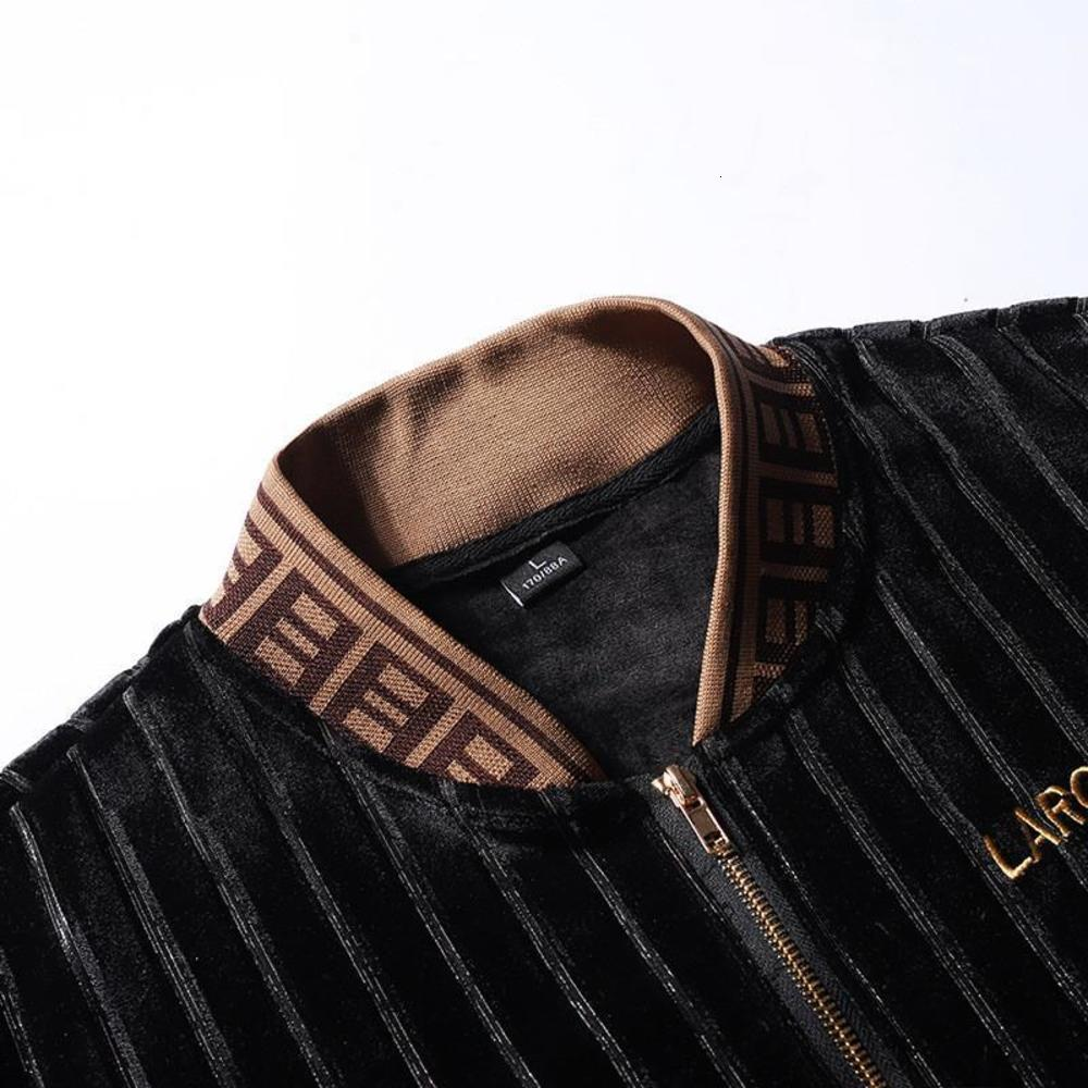 Winter Thickened Over-size Men's Suits Gold Velvet Fashion Two-piece Set 2021 New Year Ox Casual Hoodies Jacket Set For Men