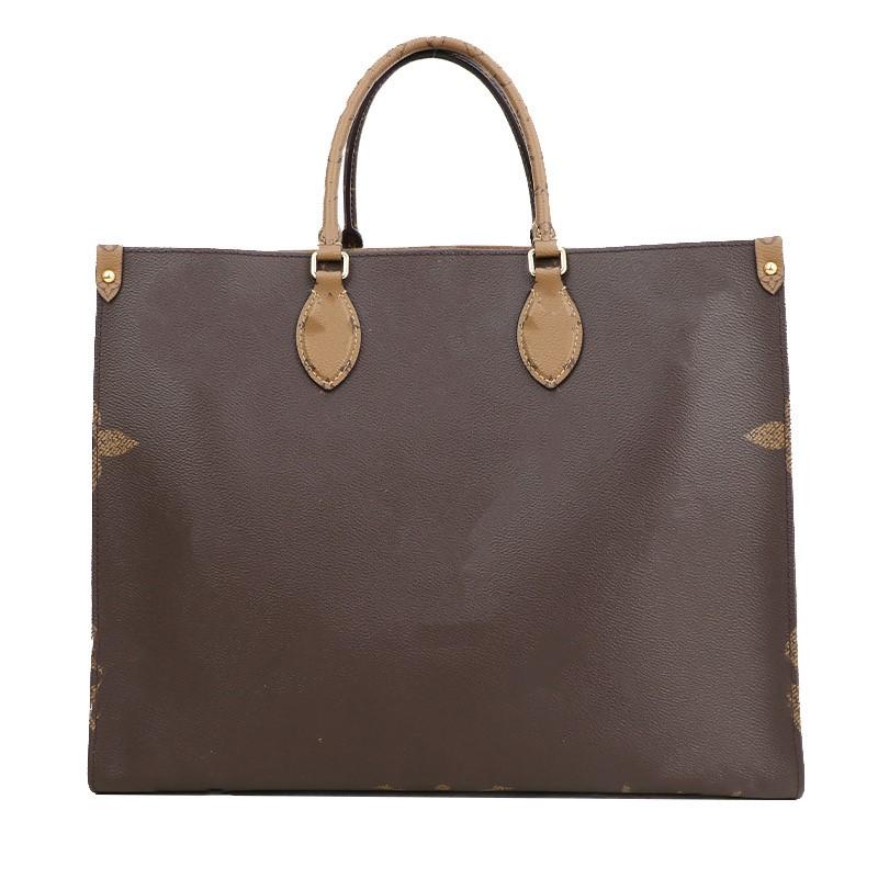 high-quality Women Leather Luxurys Designer Handbag Female Fashion Messenger ONTHEGO Tote Handbags Purse M45321