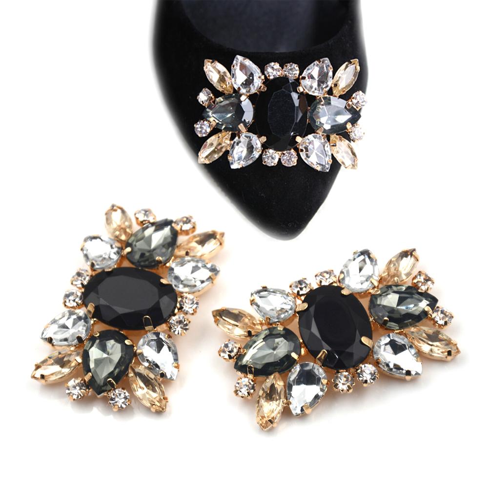 1Pcs Alloy Rhinestone Shoes Clips Fashion Shoe Accessories Charm Glass Drill Shoe Buckle Bridal Wedding Shoes Decorative