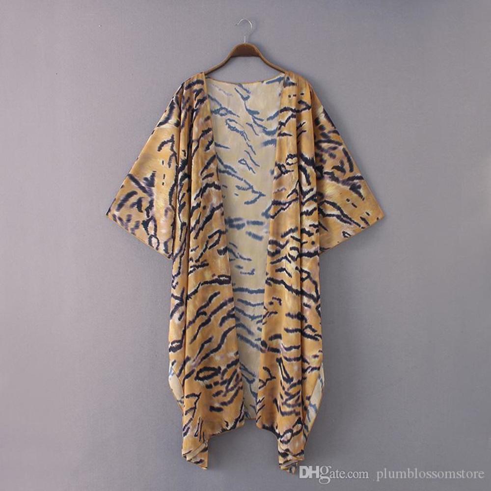 Elegant Floral printed kimono blouses shirt women fashion long cardigan tops summer casual beach bohemian chiffon bikini swimwear cover ups