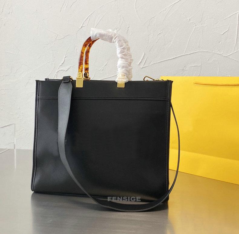 New luxury fashion Tote Bag Sunshine Shopper Roma women Leather bags double handle Orange shopping bag totes handbags Crossbody Ladies Purse