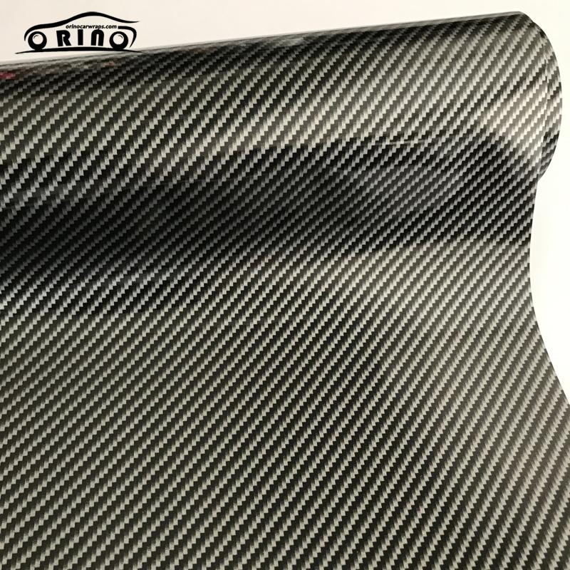 Silver 2D Carbon Fiber Vinyl Wrap Sticker-4