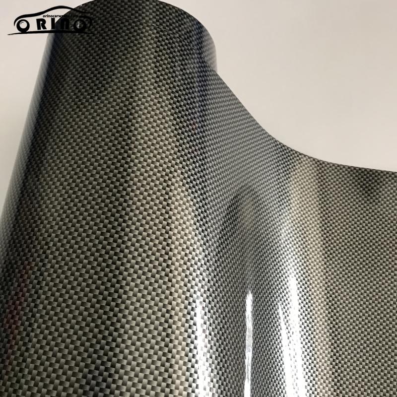 2D Square Silver Carbon Fiber Vinyl Film Wrap-1