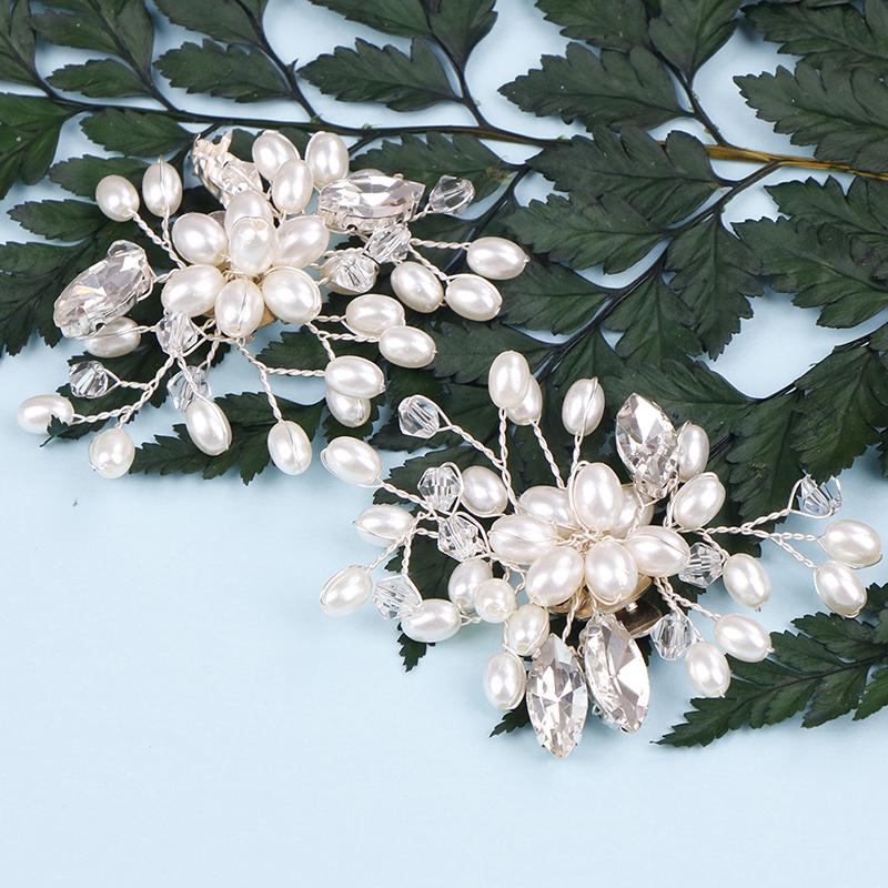 1/2PC Beautiful Crystal Shoe Clip Decoration Faux Pearl Shoe Clips Decorative Accessories Bridal Shoes Rhinestone Clip Buckle