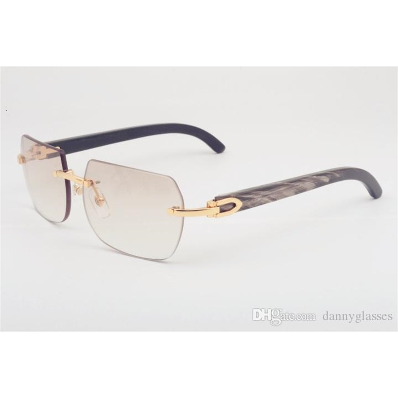 Direct sales of new natural mixed horn sunglasses, 8100906 personalized fashion black pattern horn sunglasses, size: 56-18-140mm sunglasses,