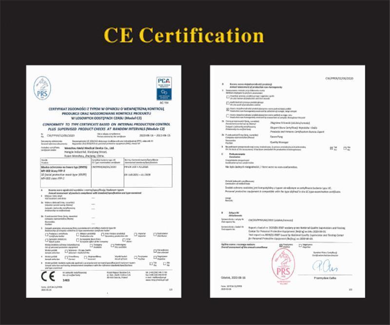 FFP2 Mask CE Certificate Maske EU Whitelist Face Mask PM2.5 Anti-Fog Haze and Influenza mascarilla Reusable 5 layers mascherina