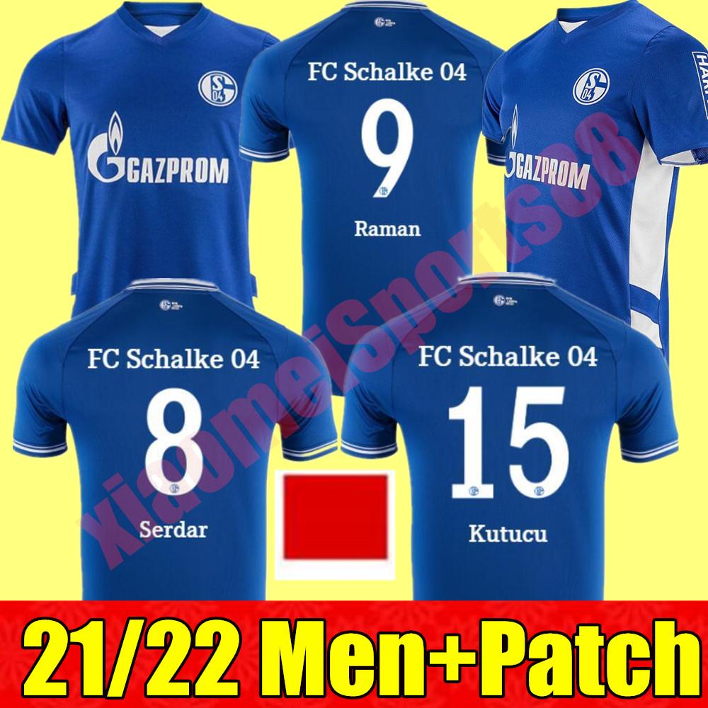 2021 2022 FC Schalke 04 Soccer Jerseys Huntelaar Uth Raman Hoppe Bentaleb 21 22 home away jersey Kutucu McKENNIE Men Football Shirt