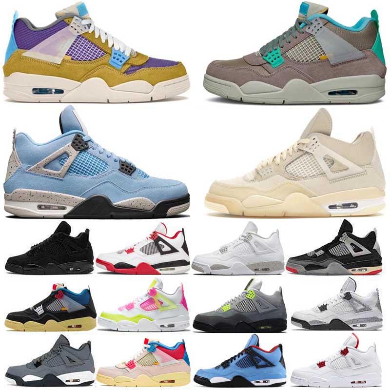 Nike Air Jordan 4 JumpmanOG Mens Basketball Shoes 4s Desert Moss Taupe Haze University Blue White Oreo Sail Black Cat Bred Men Women Trainers Designer Sneakers