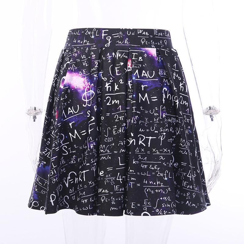 Mathematical Print High Waist Skirt Womens Fashion Pleated Skirt Sumemr Dark Designer Faamle Casual Clothing