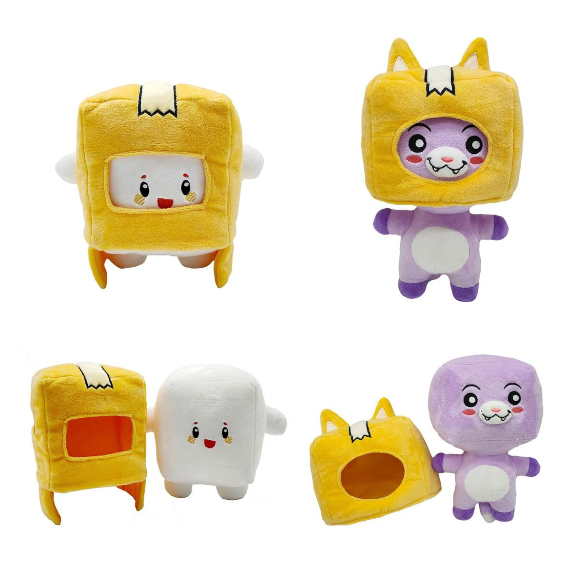cute lankybox plush toy cartoon anime plush doll removable robot plush toys stuffed pillow dolls kid birthday gift doll toy