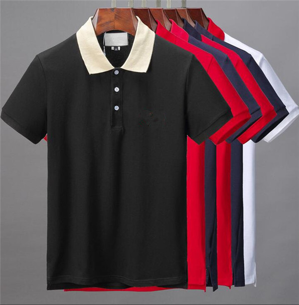 Men's T-Shirt, Cotton Polos Shirt, Solid Color Short-sleeved Top, Length Breathable Street Wear, Black, White, Red, Blue. size M- XXXL