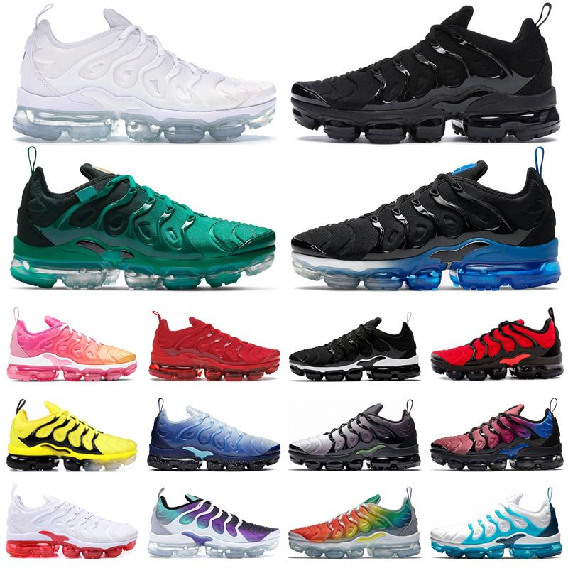 vapourmax tn plus running shoes mens trainers Triple Black White Atlanta Game Royal Bumblebee Bred womens outdoor sports sneakers size 36-47