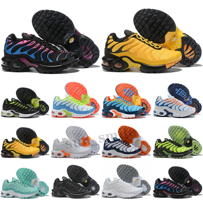 Children kids Running Shoes Boy& Girl Toddler Youth Trainer Cushion Surface Breathable Sports top quality tn sneakers