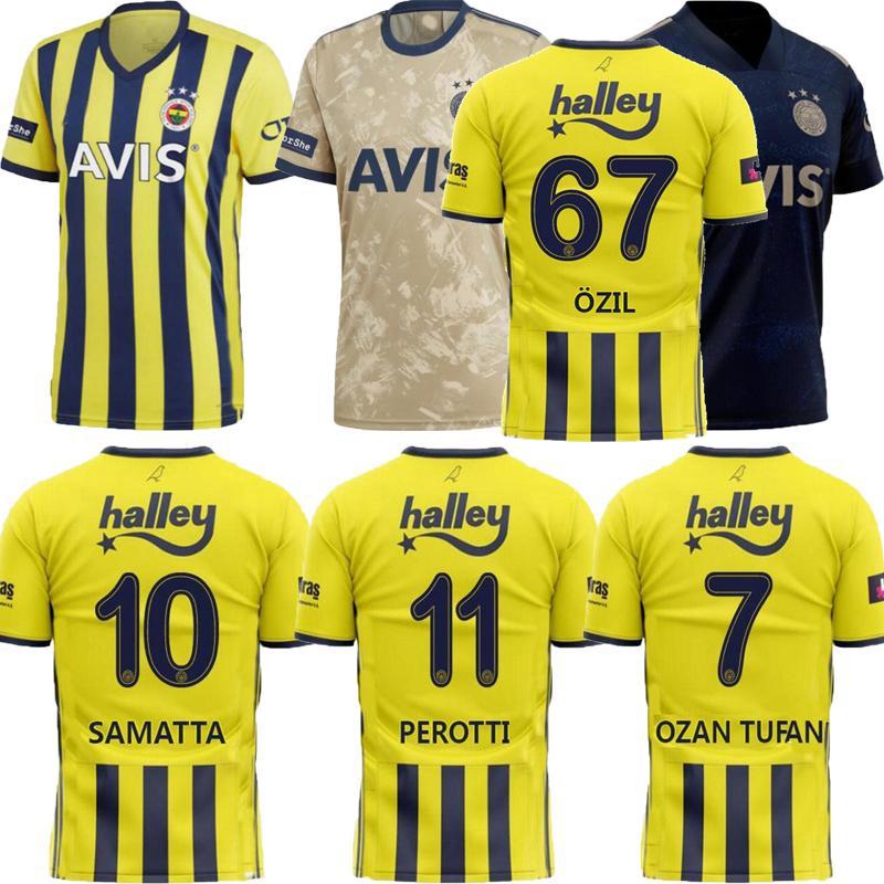2021 Turkey Fenerbahce soccer jersey home away 3rd Samatta Kahveci Tufan Perotti Özil 20 21 football shirt