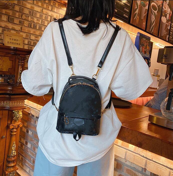 Backpack School Quality Fashion Springs Style PALM Mini 2021 Pu Leather Children High Bags Women Size Inoh