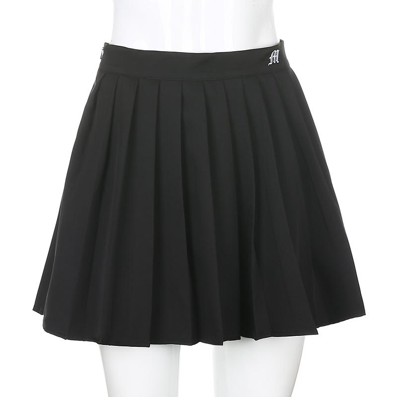 Black Embroidery Skirt (4)