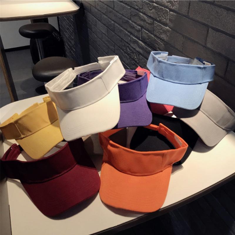 Summer Sun Visors Hat Caps Sports Quickly Dry Sun Hats Visors Sports Sun Visors For Women Genuine Black White Beach cap