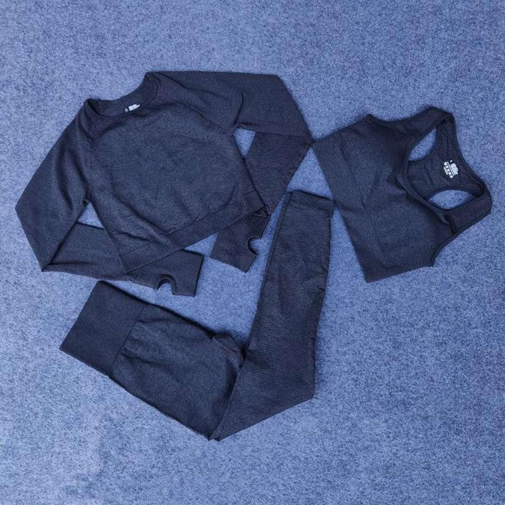 fashion Designer Women Cotton Yoga Suit Gymshark same style Sportwear Tracksuits Fitness Sport pant bra t shirts Leggings outfits solid