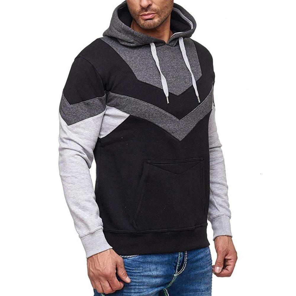 Fashion Mens Hoodie Classic Stitching Pullover Zipper Hoodies Sweatshirts Casual Fashion Style Hoodie for Men