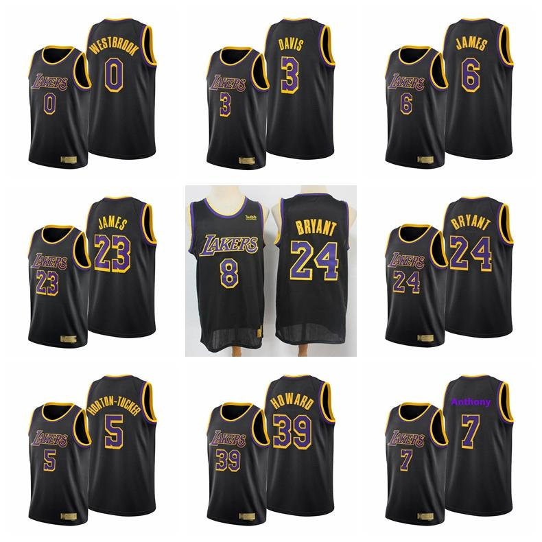 2020-21 Men Jersey James Anthony Westbrook Davis Basketball Jerseys