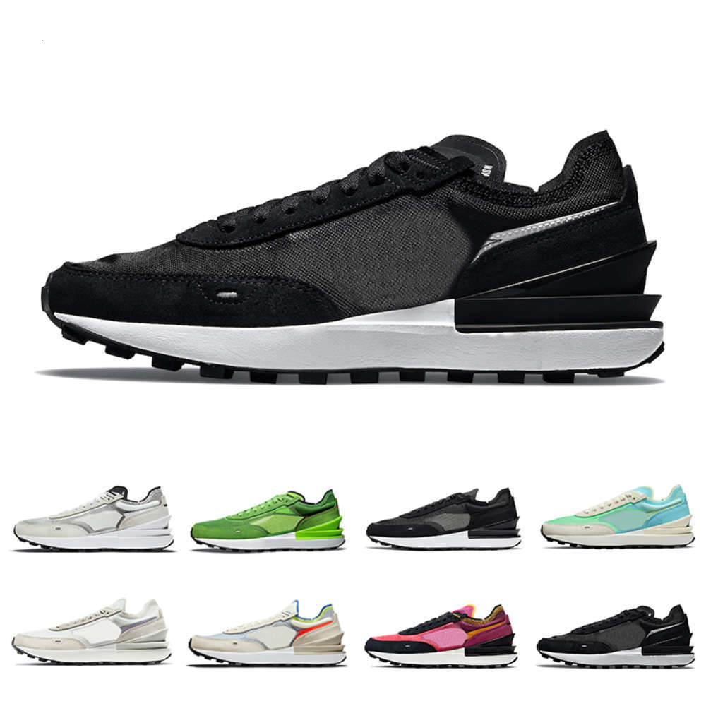 Summit White Waffle one mens running shoes Electric Green Black Scream Infinite Lilac Coconut Milk Active Fuchsia women men trainers sports