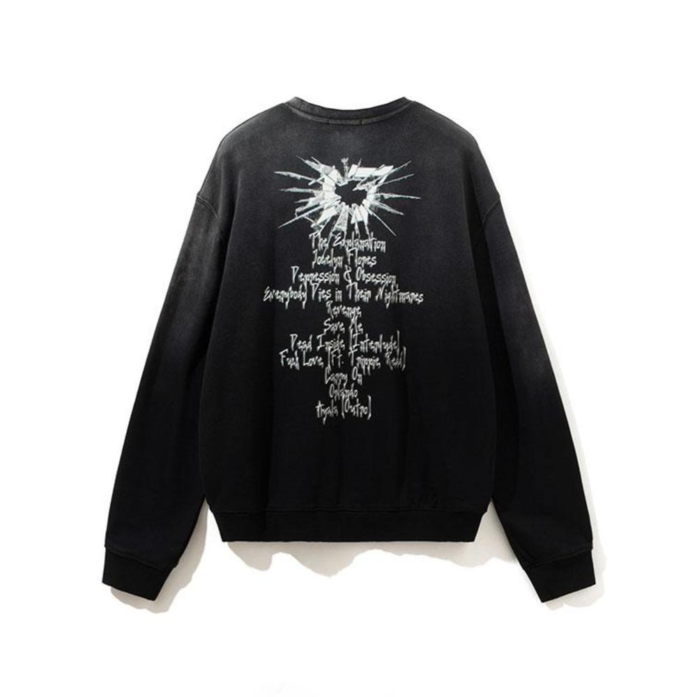 2021SS hiphop top black color XL sweatshirt Crewneck Sweatshirts Men Women 1 Top Quality Pullover Loose Hoodie