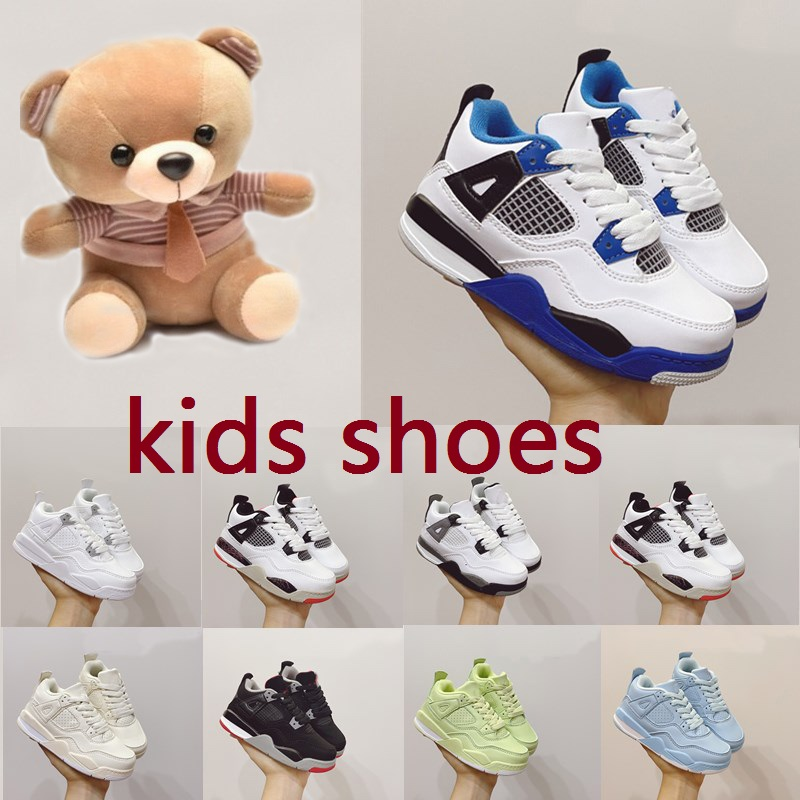 Children 2021 New shoes kids Running Shoes Basketball 4 4s Designer shoe Boy& Girl Toddler Youth Trainer Cushion Surface Breathable Sports top quality tn sneakers