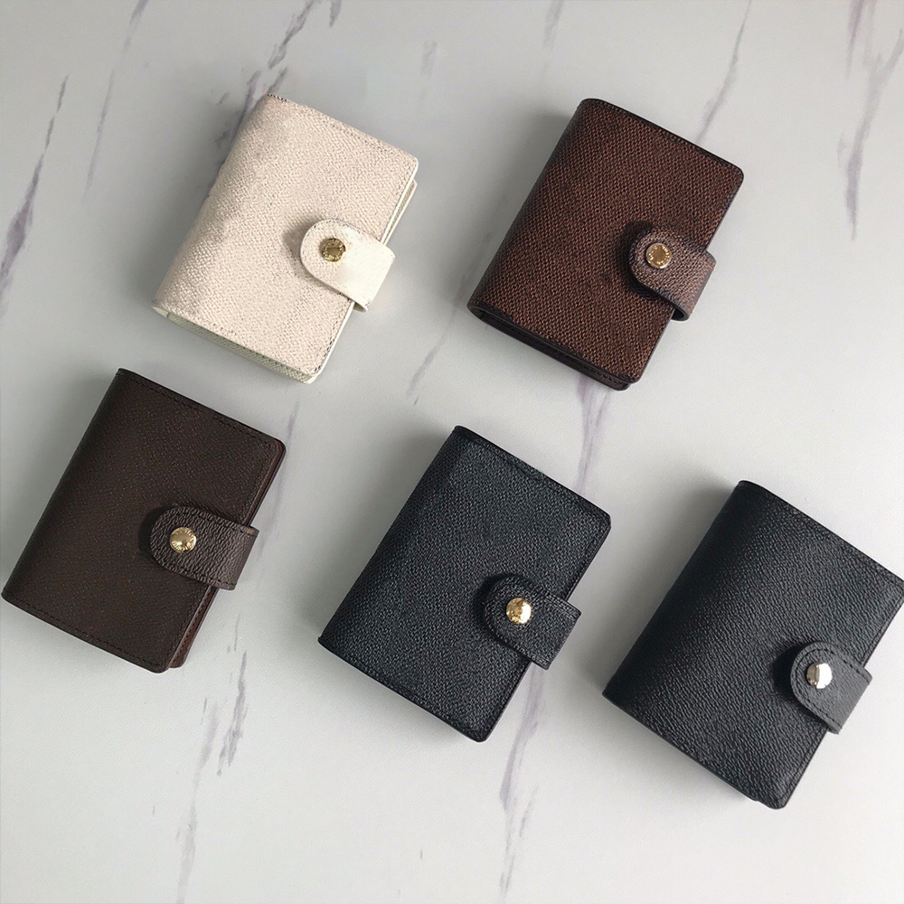 Designer Business card holder wallet purse package France Women Men Brown pairs Checkered Casual Fashion Black Plaid Leather Three mezzanine whth box luxury