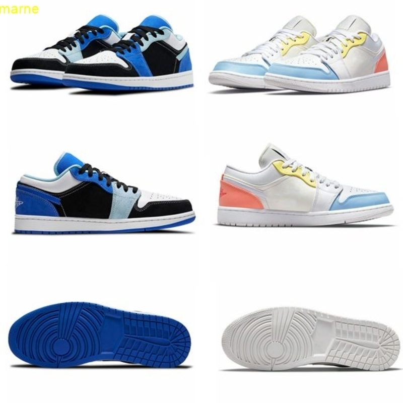 2021Low Men's Running Shoes To My First Coach Candy Color Stitching White Blue Black Women's Sneakers 36-45
