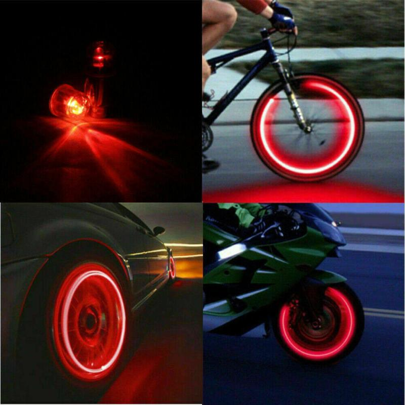 Interior&External Lights 4pcs Set Tyre Air Valve Stem Accessories Light Car Covers For Kits LED