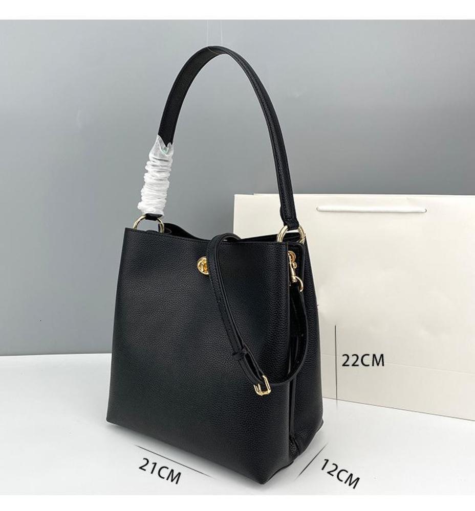 Luxury handbag The new 2020 Charlie Bucket bag senior shoulder hand feeling restoring ancient ways litchi grain leather handbag