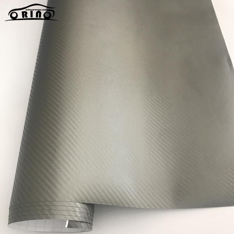 Grey 3D Carbon Fiber Vinyl Wrap Sticker-2