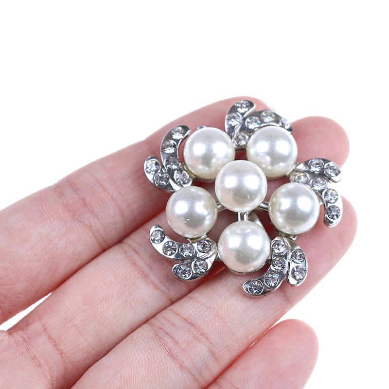 Faux Pearl Rhinestone Crystal Shoes Buckle Women Bridal Elegant Shoe Clips Decor Charming Shoe Accessories
