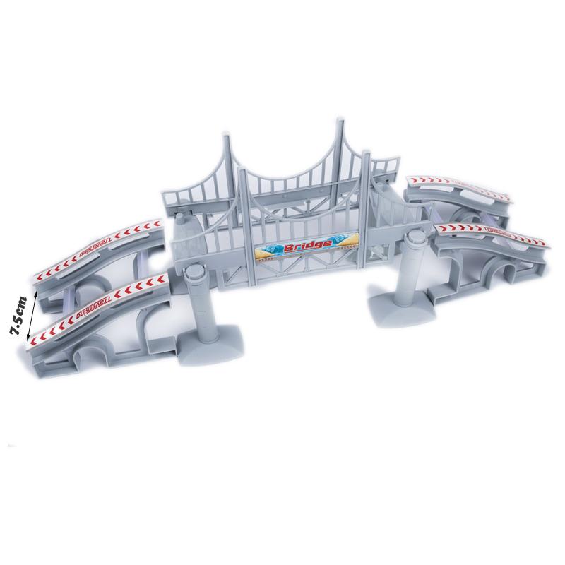 Glowing-Race-Track-DIY-Universal-Accessories-Ramp-Turn-Road-Bridge-Crossroads-Educational-Rail-Car-Toy-Racing