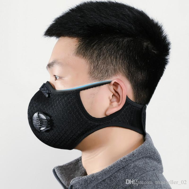 2020 Hot Mesh dust/gas mask with dust cover, cycling mask outdoor smog protection for men and women adjustable respirator mask