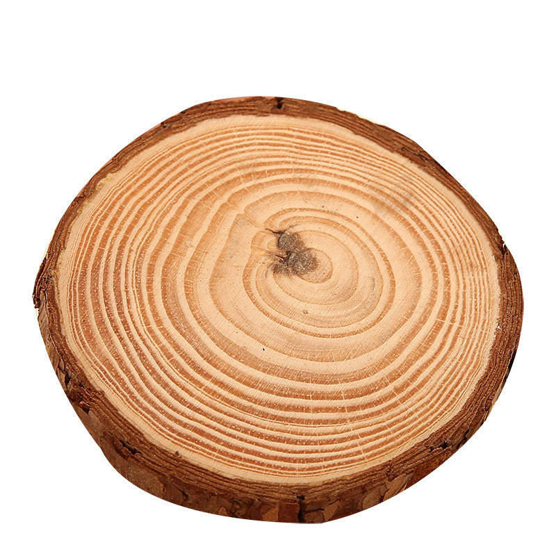 6pcslot Pine Wooden Chips Cut Pieces Wood Log Sheet Rustic Wedding Decor Party Centerpieces Vintage Country Style (4)