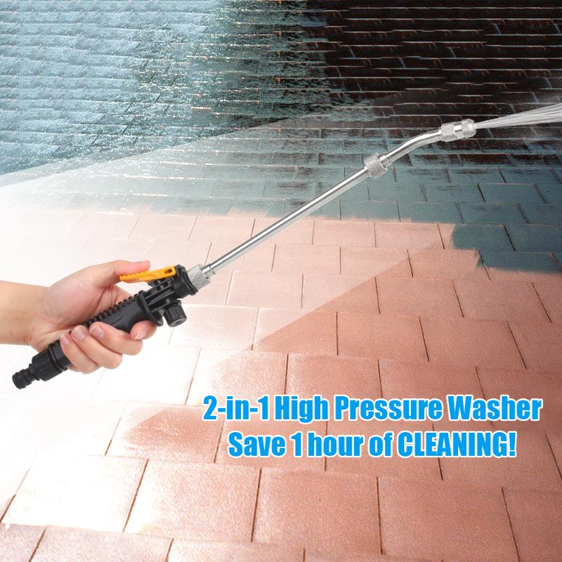 High Pressure Washer 2.0 Jet Nozzle Fan Nozzle Safely Cleaning High Impact Washing Wand Water Spray Washer for home cleaning